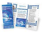 Telecommunication: Modèle de Brochure de hébergement web #02088