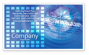 Telecommunication: Web Hosting Business Card Template #02088