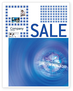Web Hosting Sale Poster Template, 02088, Telecommunication — PoweredTemplate.com