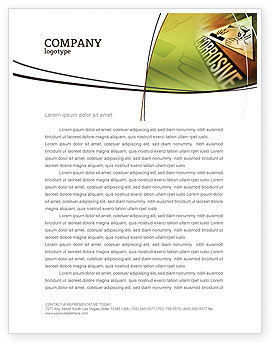 Utilities/Industrial: Chemical Hazard Letterhead Template #02091