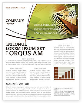 Utilities/Industrial: Chemical Hazard Newsletter Template #02091