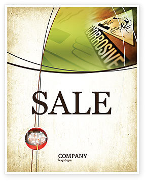 Utilities/Industrial: Chemical Hazard Sale Poster Template #02091