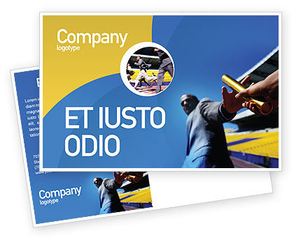 Business Concepts: Sprint Postcard Template #02097