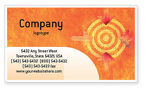 Business Concepts: Target Business Card Template #02098