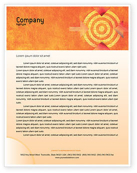Target Letterhead Template, 02098, Business Concepts — PoweredTemplate.com