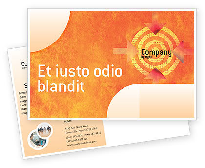 Business Concepts: Target Postcard Template #02098