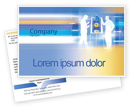 Business: Aim Postcard Template #02100