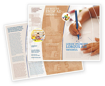 Education & Training: Plantilla de folleto - aprendizaje infantil #02106