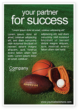 Sports: Ball Game Ad Template #02110