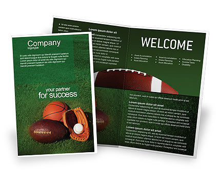 Sports: Ball Game Brochure Template #02110