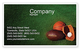 Sports: Ball Game Business Card Template #02110