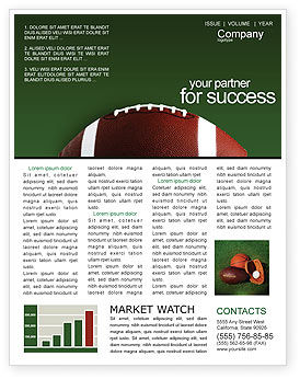Sports: Ball Game Newsletter Template #02110