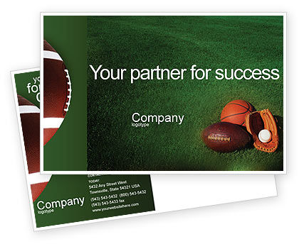 Sports: Plantilla de la postal - juego de pelota #02110