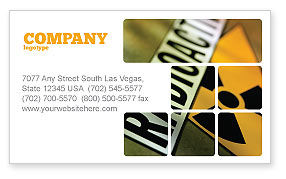 Radioactive Business Card Template, 02111, Utilities/Industrial — PoweredTemplate.com