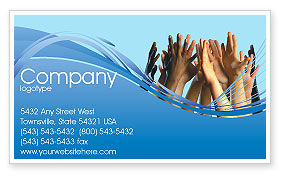 Religious/Spiritual: Children Hands Business Card Template #02117