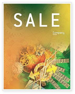 Technology, Science & Computers: Business Mechanism Sale Poster Template #02122