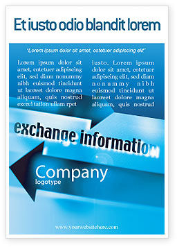 Information Exchange Ad Template, 02125, Telecommunication — PoweredTemplate.com
