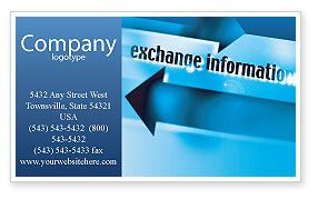 Telecommunication: Information Exchange Business Card Template #02125