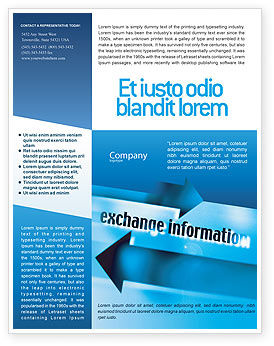 Information Exchange Flyer Template, 02125, Telecommunication — PoweredTemplate.com