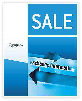 Telecommunication: Information Exchange Sale Poster Template #02125