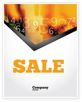 Technology, Science & Computers: Abstract Digital Sale Poster Template #02130