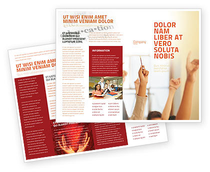 School Activity Brochure Template, 02137, Education & Training — PoweredTemplate.com