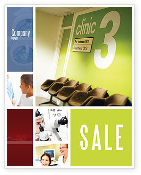 Clinic Sale Poster Template, 02147, Medical — PoweredTemplate.com