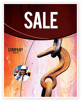Hook Sale Poster Template, 02152, Utilities/Industrial — PoweredTemplate.com