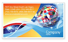 World Flags Business Card Template