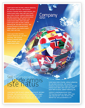 Global: World Flags Flyer Template #02153
