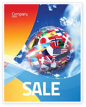 World Flags Sale Poster Template, 02153, Global — PoweredTemplate.com