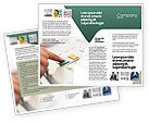 Telecommunication: Fax Brochure Template #02154