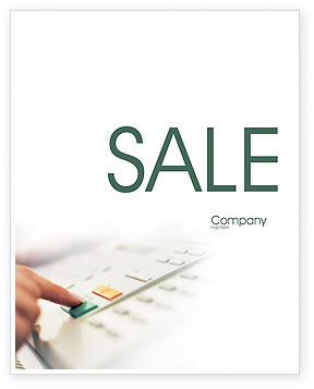 Telecommunication: Fax Sale Poster Template #02154