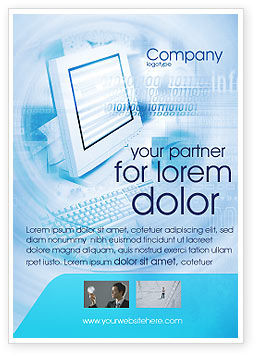 Technology, Science & Computers: Digital Computing Technology Ad Template #02160