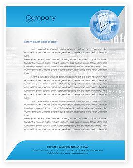 Technology, Science & Computers: Modelo de Papel Timbrado - tecnologia de computação digital #02160