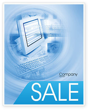 Digital Computing Technology Sale Poster Template, 02160, Technology, Science & Computers — PoweredTemplate.com