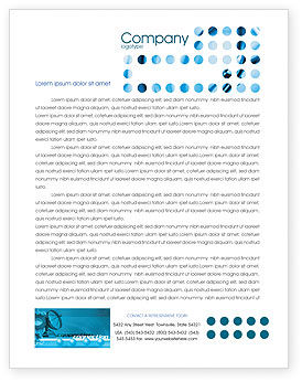 Telecommunication Systems Letterhead Template, 02168, Telecommunication — PoweredTemplate.com