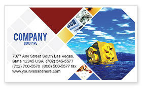 Financial/Accounting: Dollar In Desert Business Card Template #02172