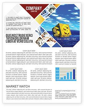 Dollar In Desert Newsletter Template, 02172, Financial/Accounting — PoweredTemplate.com