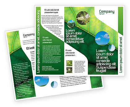 Botany Brochure Template, 02176, Nature & Environment — PoweredTemplate.com