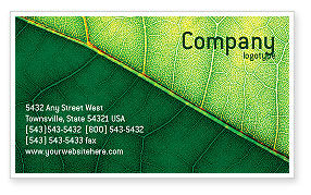 Nature & Environment: Botany Business Card Template #02176