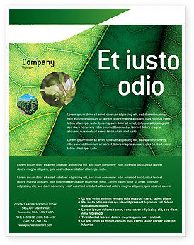 Botany Flyer Template