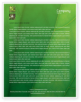 Nature & Environment: Botany Letterhead Template #02176