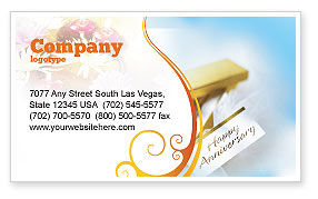 Holiday/Special Occasion: Happy Anniversary Business Card Template #02177