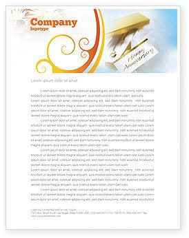 Frohes Jubiläum Briefkopf Vorlage Layout Für Microsoft Word Adobe