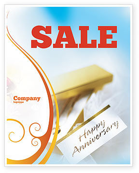 Holiday/Special Occasion: Happy Anniversary Sale Poster Template #02177