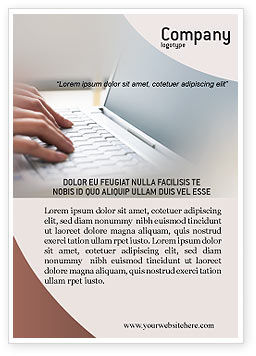 Laptop Computer Ad Template