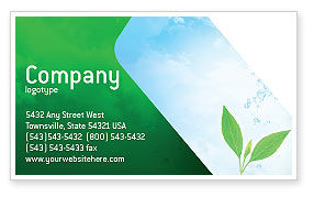 Pure Nature Business Card Template, 02183, Nature & Environment — PoweredTemplate.com