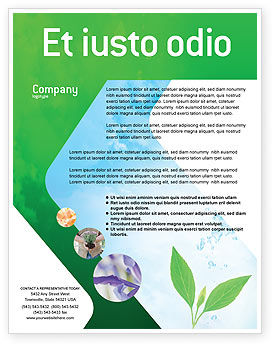 Nature & Environment: Pure Nature Flyer Template #02183
