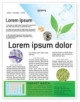 Pure Nature Newsletter Template, 02183, Nature & Environment — PoweredTemplate.com